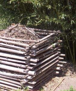 Eine simple Variante des Kompost-Behälters.